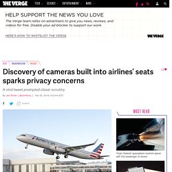 Discovery of cameras built into airlines' seats sparks privacy concerns