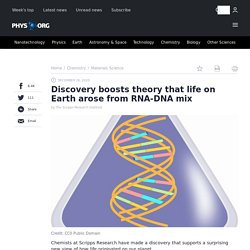 Discovery boosts theory that life on Earth arose from RNA-DNA mix
