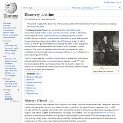 Discovery doctrine