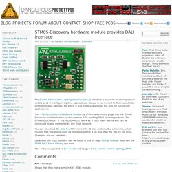 STM8S-Discovery hardware module provides DALI interface