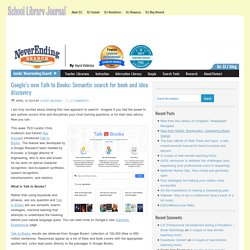 *Google's new Talk to Books: Semantic search for book and idea discovery