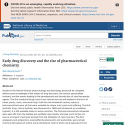 Early drug discovery and the rise of pharmaceutical chemistry