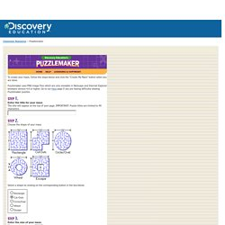 Welcome to Discovery Education's Puzzlemaker