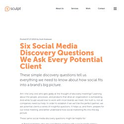 Six Social Media Discovery Questions We Ask Clients