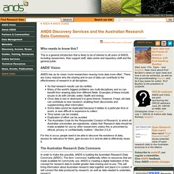 ANDS Discovery Services / Australian Research Data Commons