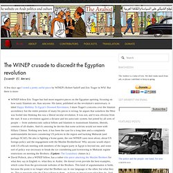 The WINEP crusade to discredit the Egyptian revolution