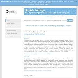 Tratamiento de las discrepancias ortotipográficas inglés-español