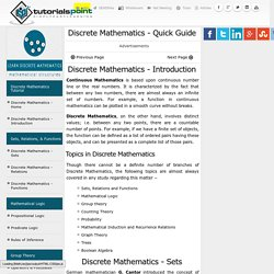 Discrete Mathematics Quick Guide