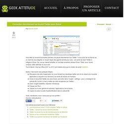 Consultez discrètement au boulot Twitter avec Excel