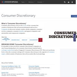 Consumer Discretionary Definition