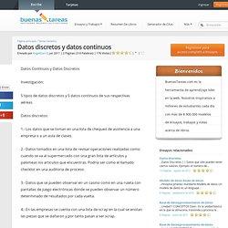 Datos Discretos y Datos Continuos - Ensayos - Angeldan10
