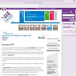 Loi du 31 mars 2006 pour l'égalité des chances