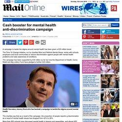 Cash booster for mental health anti-discrimination campaign