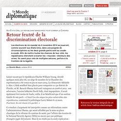 Retour feutré de la discrimination électorale aux Etats-Unis, par Brentin Mock (Le Monde diplomatique, octobre 2014)