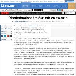 Discrimination: des élus mis en examen