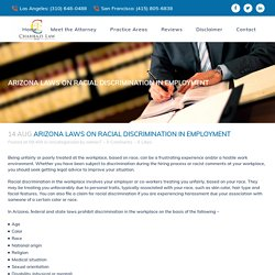 Arizona Laws on Racial Discrimination in Employment