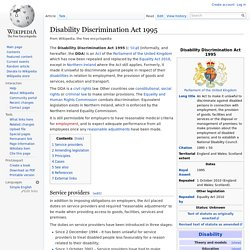 Disability Discrimination Act 1995