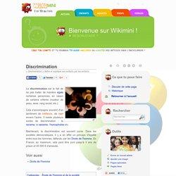 Discrimination — Wikimini, l'encyclopédie pour enfants