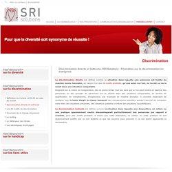 Formation discrimination entreprise : Discrimination directe et indirecte - SRI Solutions