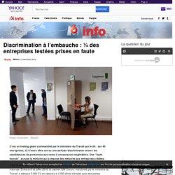 Discrimination à l'embauche : ¼ des entreprises testées prises en faute