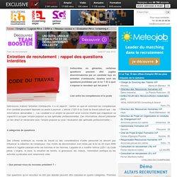 Discrimination en entretien : les questions prohibées par la loi