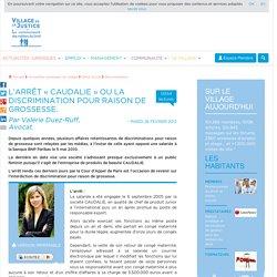 L'arrêt « Caudalie » ou la discrimination pour raison de grossesse. Par Valérie Duez-Ruff, Avocat.