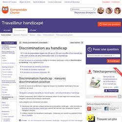 Discrimination au handicap : mesures anti discrimination handicap