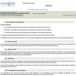 Discrimination dans le monde du travail - Ndema idriss, Laurent Ries, Renaud Heckmann