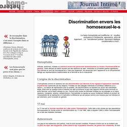 Discrimination envers les homosexuel-le-s