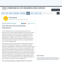 "The ""Reverse Discrimination Sentiment"" - Innovations"