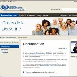 Discrimination : pratique interdite
