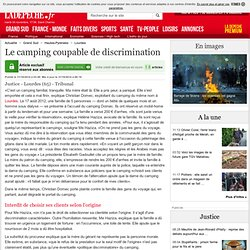 Le camping coupable de discrimination - 31/10/2014