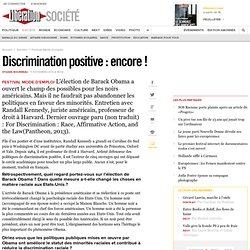 Discrimination positive : encore !