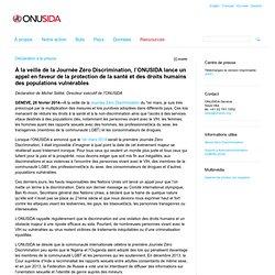 À la veille de la Journée Zéro Discrimination, l'ONUSIDA lance un appel en faveur de la protection de la santé et des droits humains des populations vulnérables