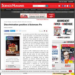 Discrimination positive à Sciences Po