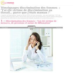 Discrimination des femmes : trois mamans témoignent