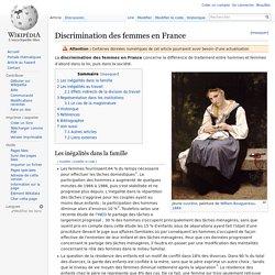Discrimination des femmes en France