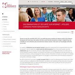 Discriminations et sécurité sur internet : ateliers ludiques pour adolescents