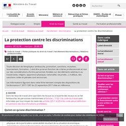 La protection contre les discriminations - Harcèlement - discrimination - Ministère du Travail
