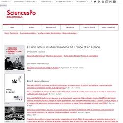 La lutte contre les discriminations en France et en Europe