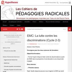 EMC: La lutte contre les discriminations (Cycle 2-3) – Les cahiers de pédagogies radicales
