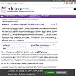 Prévention des discriminations - Prévenir l'homophobie et la transphobie