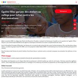 Egalité filles-garçon: des ateliers au collège pour lutter contre les discriminations