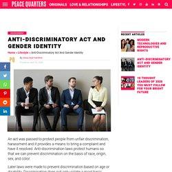 Anti-Discriminatory Act And Gender Identity