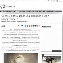 Consejos para ganar una discusión según Schopenhauer