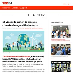 10 videos to watch to discuss climate change with students