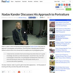 Nadav Kander Discusses His Approach to Portraiture