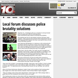 Local forum discusses police brutality solutions