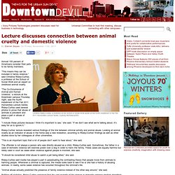 Lecture discusses connection between animal cruelty and domestic violence