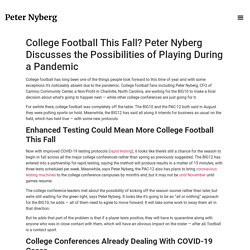 Peter Nyberg Discusses Playing College Football During a Pandemic